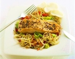 17 oosterse zalm met mie