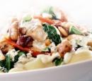 recepten vandaag pasta met kip, spinazie, champignons 1377