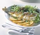 Eten Recept Vis Gegrilde forel kerrie sinaasappelboter