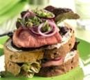 eten recept vlees dubbeldekker rosbief notenbrood