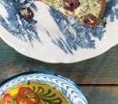 receptenvandaag ricottataart met groene kruiden en olijven