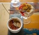 receptenvandaag nectarine met vanilleroom & crumble