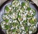 receptenvandaag carpaccio van courgette met feta en munt