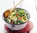 recepten vandaag pasta spaghetti tomaat rucola knappertjes