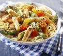 receptenvandaag Mie met zoetzure kip en asperges