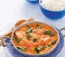receptenvandaag Indiase viscurry met spinazie, yoghurt en cashewnoten