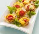 receptenvandaag Mini pies met prosciutto, tomaat en feta