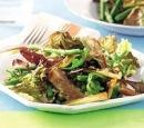 recepten vandaag salade lamsvlees muntdressing