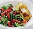 recepten vandaag salade spinazie tomaatsalade