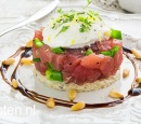 recepten vandaag tonijntartaar met balsamico