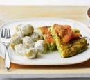 recepten vandaag krieltjes kruidenroomsaus courgette omelet