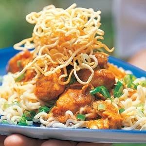 recepten vandaag kip rode kokos curry gekookte mie