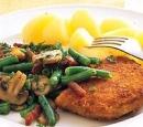 7 kip cordon bleu met sperziebonen en spekjes