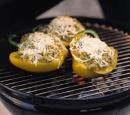 20 gevulde paprikas met risotto en mozzarella