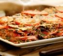 5 lasagne met spinazie, tomaat en gehakt