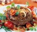 12 steakfilets met witte wijn en uien