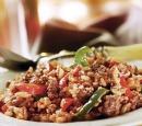 17 risotto uit de oven met worstgehakt en paprika
