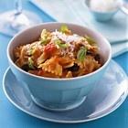recept farfalle tomaten basilicum