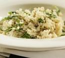 21 vegetarische risotto met roomkaas en rucola