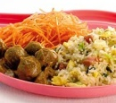 21 chinese nasi met gehaktballetjes