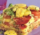18 aardappelschotel met chorizo en spitskool