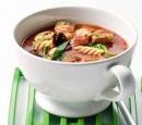 6 italiaanse maaltijd-tomatensoep