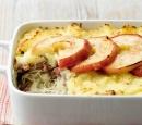 16 zuurkoolschotel met gehakt en appel
