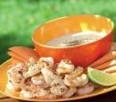 recepten vandaag pepergambas met knoflooksaus