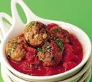 20 kruidige kipballetjes in tomatensaus