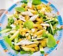 14 salade van pasta en makreel