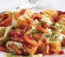 14 salade met spekreepjes en croutons
