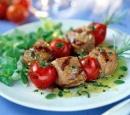 12 kalfs- en tomaatspiesjes