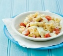 1 pastaschotel met asperges en ham